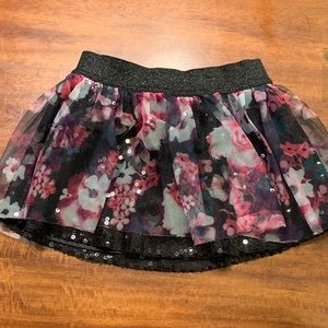 Justice skirt- black sequin